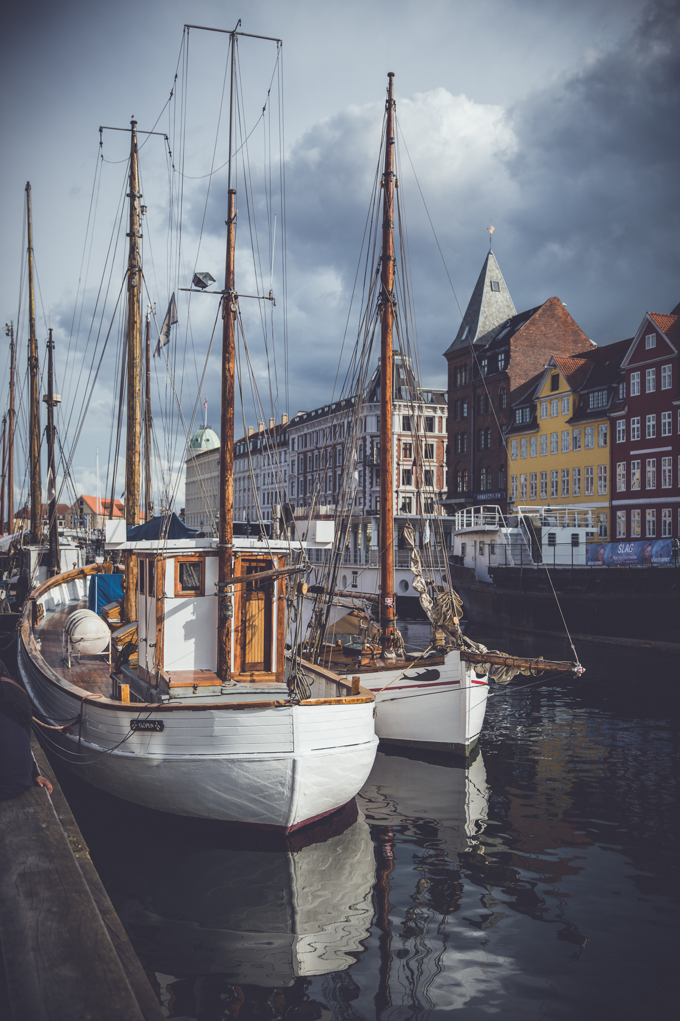 Denmark Nyhavn Boat Harbor